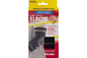 Mueller 4-Way Stretch Elbow Support Moderate Support Level Large/X-Large
