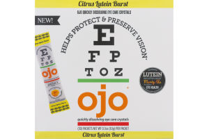 OJO Quickly Dissolving Eye Care Crystals Citrus Lutein Burst