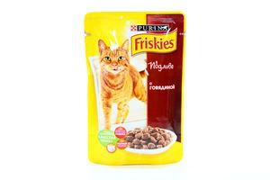 Корм влажный для взрослых кошек с говядиной в подливе Friskies м/у 100г