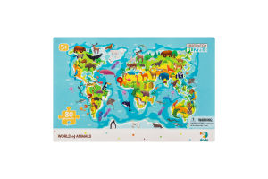 Пазл для дітей від 5років 45х31см №300133 World of animals Observation Dodo 80ел