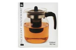 Заварник для чая стеклянный 1500мл Y*1