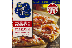 Smart Flour Foods Uncured Pepperoni Pizza Gluten Free Family Size