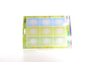 Етикетки шкільні ZiBi А4, 10 аркушів А4 / пакет 9шт 55мм *75м