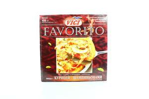 Пицца с курицей и шампиньонами Favorito Vici 415г