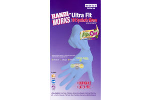 Handi-Works Ultra Fit 100 Synthetic Gloves - 100 CT