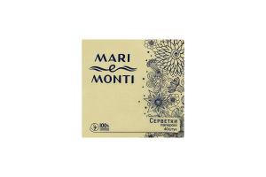 MARI e MONTI серветки паперові одношарові 40шт жовті