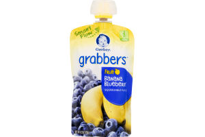 Gerber Grabbers Fruit Squeezable Puree Pouch Banana Blueberry
