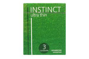 Презервативы Instinct латекс ультратонкие со смаз