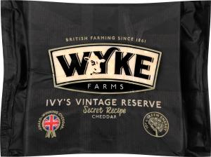 Сыр 58.84% Ivy's Vintage Reserve Cheddar Wyke Farms м/у 200г