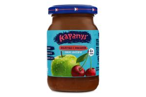 Пюре для дітей від 4міс Яблуко і вишня Карапуз с/б 170г
