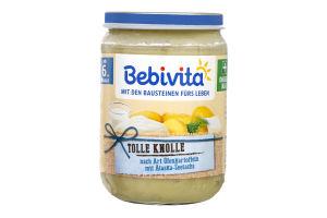 Пюре для детей от 8мес Запеченный картофель с морской рыбой Bebivita с/б 190г