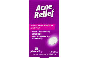 NatraBio Acne Relief Tablets