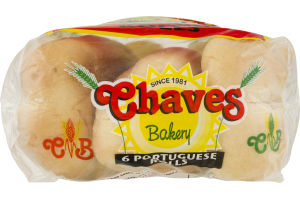 Chaves Bakery Portuguese Rolls - 6 CT
