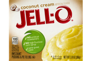 Jell-O Instant Pudding & Pie Filling Coconut Cream