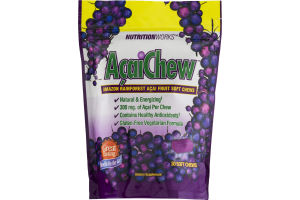 NutritionWorks AcaiChew Amazon Rainforest Acai Fruit Soft Chews - 30 CT