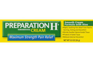 Preparation H Hemorrhoidal Cream Maximum Strength