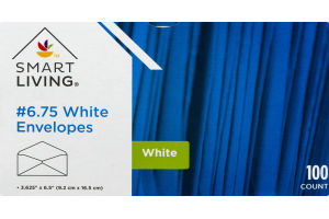 Smart Living #6.75 White Envelopes - 100 CT