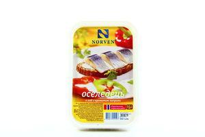 Оселедець Norven філе-шматочки з паприкою в олії 500г х6