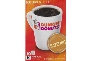 Keurig Hot Dunkin' Donuts Hazelnut Coffee K-Cup Pods - 10 CT