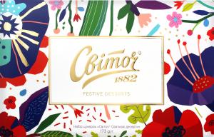 Набор конфет Праздничные Десерты Світоч к/у 173г