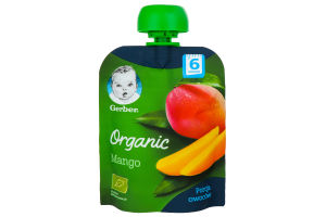 Пюре для дітей від 6міс Organic Манго Gerber д/п 90г