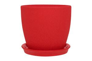 Горшок Сонет шелк керамика красный 13*12,5*1,0