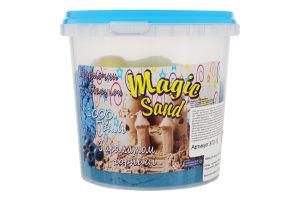 Набір для творчості блакитного кольору з ароматом чорниці для дітей від 3років №372-10 Magic Sand Strateg 1шт