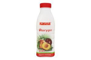 Йогурт 2.5% Персик-маракуйя Кагма п/пл 450г