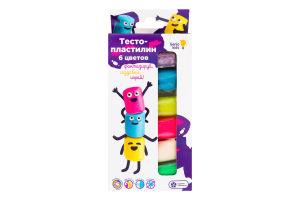 Набор для лепки для детей от 3лет №ТА1090 Тесто-пластилин 6 цветов Genio Kids 1шт