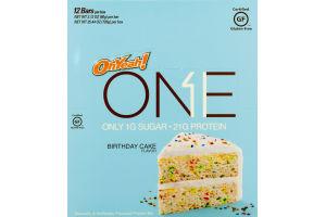 OhYeah! One Protein Bar Birthday Cake - 12 Ct