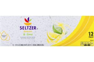 Ahold Seltzer Lemon & Lime - 12 PK