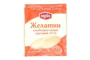 Желатин пищевой быстрорастворимый П-11 Мрія м/у 15г
