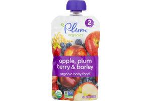Plum Organics Baby Food Apple, Plum, Berry & Barley