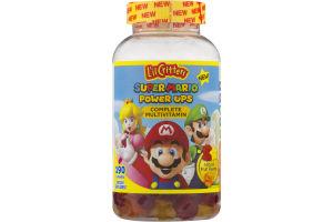 L'il Critters Super Mario Power Ups Complete Multivitamin Gummies Fruit Flavors - 190 CT