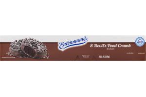 Entenmann's Devil's Food Crumb Donuts - 8 CT