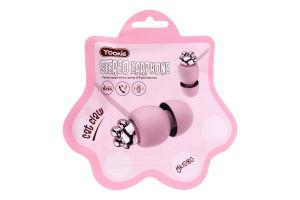 Навушники рожеві YK1080 Yookie 1шт
