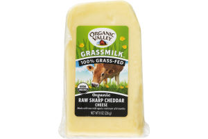 Organic Valley Grassmilk Raw Sharp Cheddar Cheese