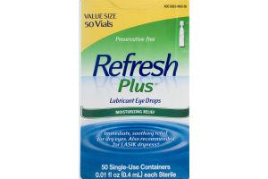 Refresh Plus Lubricant Eye Drops Moisturizing Relief - 50 CT