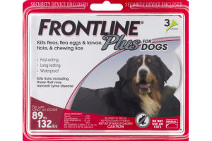 Frontline Plus For Dogs 89 to 132 lbs - 3 PK