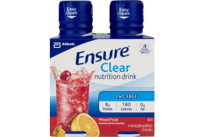 Ensure Clear Nutrition Drink Mixed Fruit - 4 CT