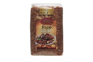 Рис красный World's Rice м/у 500г