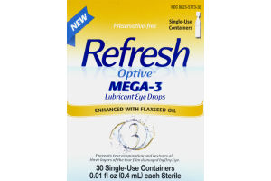 Refresh Optive MEGA-3 Lubricant Eye Drops - 30 CT