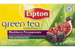 Lipton Green Tea Bags Superfruit Blackberry Pomegranate - 20 CT