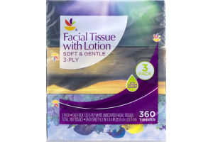 Ahold Facial Tissue with Lotion - 3 PK