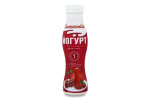 Йогурт 1.5% Вишня-Гранат Яготинський п/пл 270г