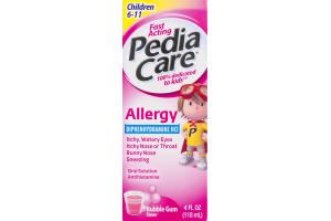 PediaCare Allergy Oral Solution Antihistamine Bubble Gum Flavor