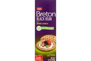 Dare Gluten Free Crackers Breton Black Bean with Onion & Garlic
