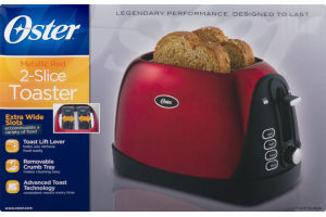Oster 2-Slice Toaster Metallic Red