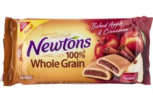 Nabisco Newtons 100% Whole Grain Fruit Chewy Cookies Baked Apple & Cinnamon