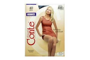 Колготки жіночі Conte elegant Nuance №8С-37СП 40den 2-S nero